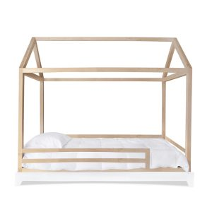 Nico & Yeye Domo House Twin Bed With Rails - Maple