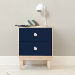 Nico & Yeye Lukka Nightstand Maple Deep Blue