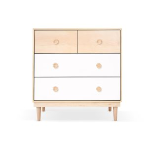 Nico & Yeye Lukka Modern 4-Drawer Dresser - Maple White