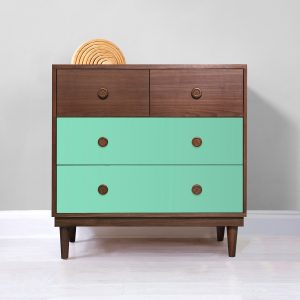 Nico & Yeye Lukka 4 Drawer Dresser Walnut Mint