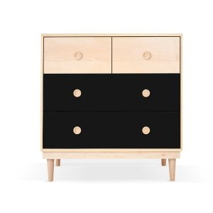 Nico & Yeye Lukka 4 Drawer Dresser Black