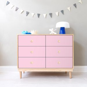 Nico & Yeye Lukka Modern 6-Drawer Dresser Maple Pink