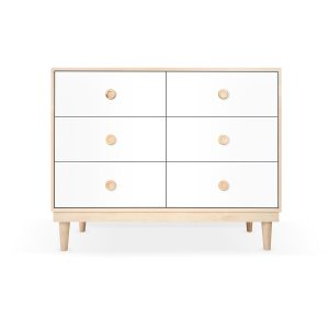 Nico & Yeye Lukka Modern 6-Drawer Dresser Maple White
