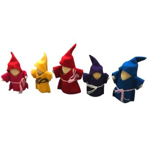 Q Toys Wooden Gnomes - Set of 5