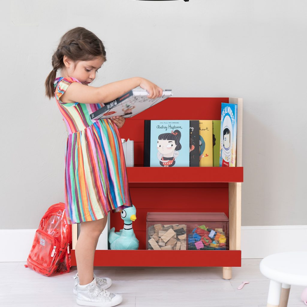 Nico & Yeye Minimo Bookcase Maple Red