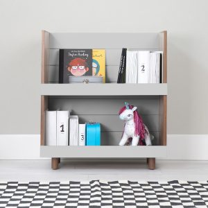 Nico & Yeye Minimo Bookcase Walnut Gray