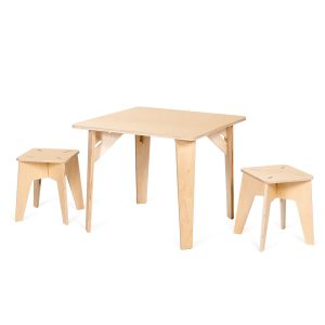 Sprout Wooden Kids Table and Stools