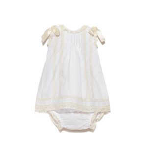 Tot A Porter Plumetis Dress with Bloomers