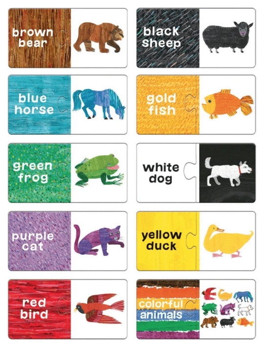 Eric Carle Brown Bear Brown Bear My First Puzzle Pairs