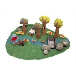 Papoose Wool Felt Play Mat for kids