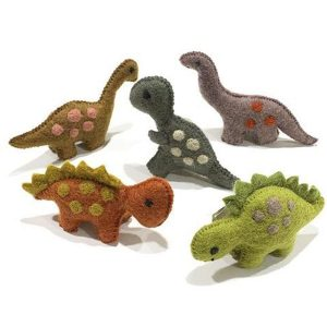Papoose Small Natural Dinosaur Set