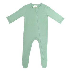 Kyte BABY Baby Spring/Summer Solid Zipper Footie - Matcha