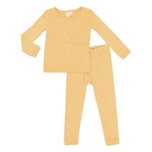 Kyte Baby Solid Pajama Set Honey