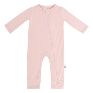 Kyte BABY Baby Solid Zipper Romper - Blush
