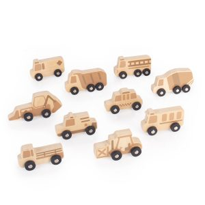 Guidecraft Mini Wooden Trucks
