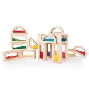 Guidecraft Sensory Rainbow Blocks