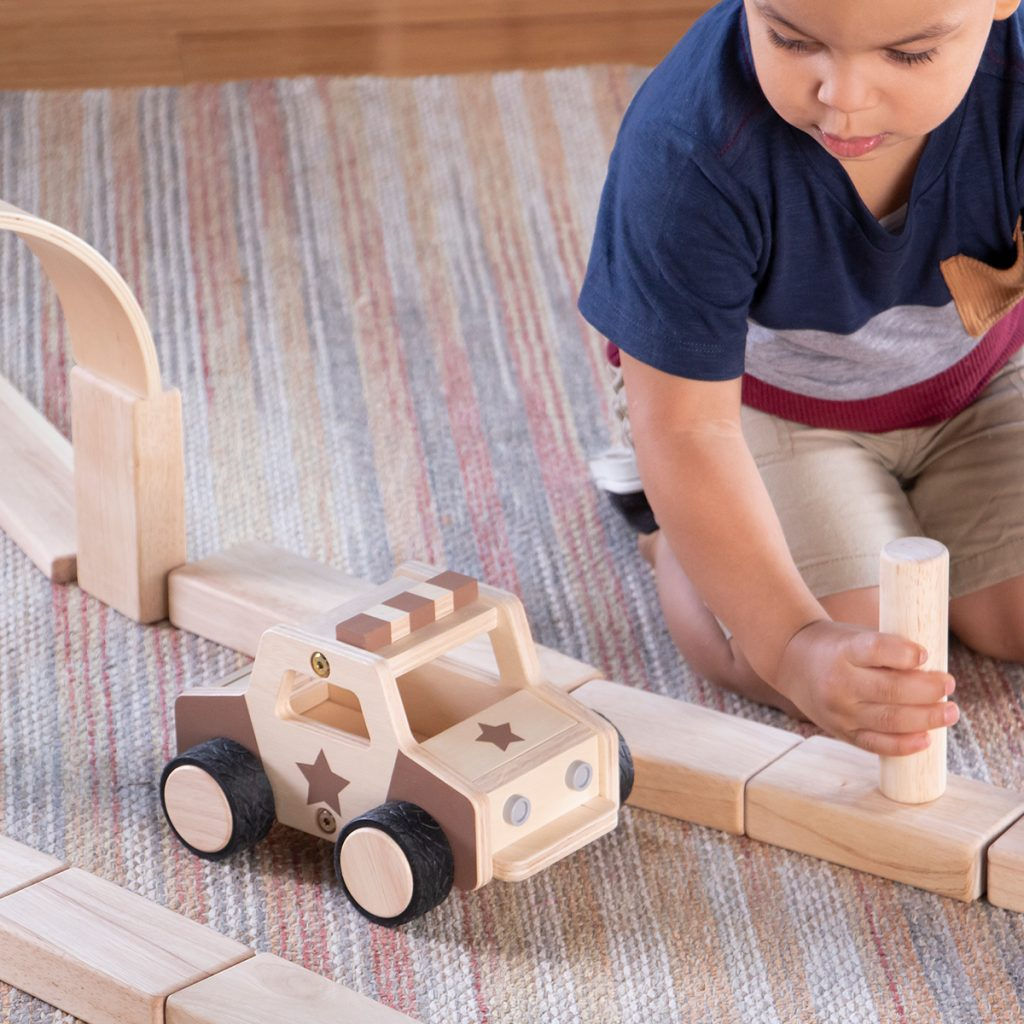 Guidecraft Wooden Police Car