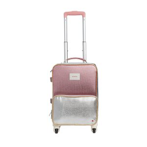 State Bags Mini Logan Suitcase Metallic Pink