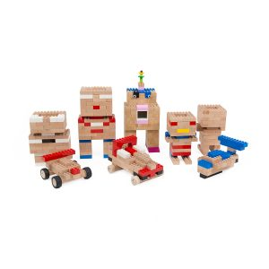 Once Kids Eco Bricks Bamboo - 250 Piece