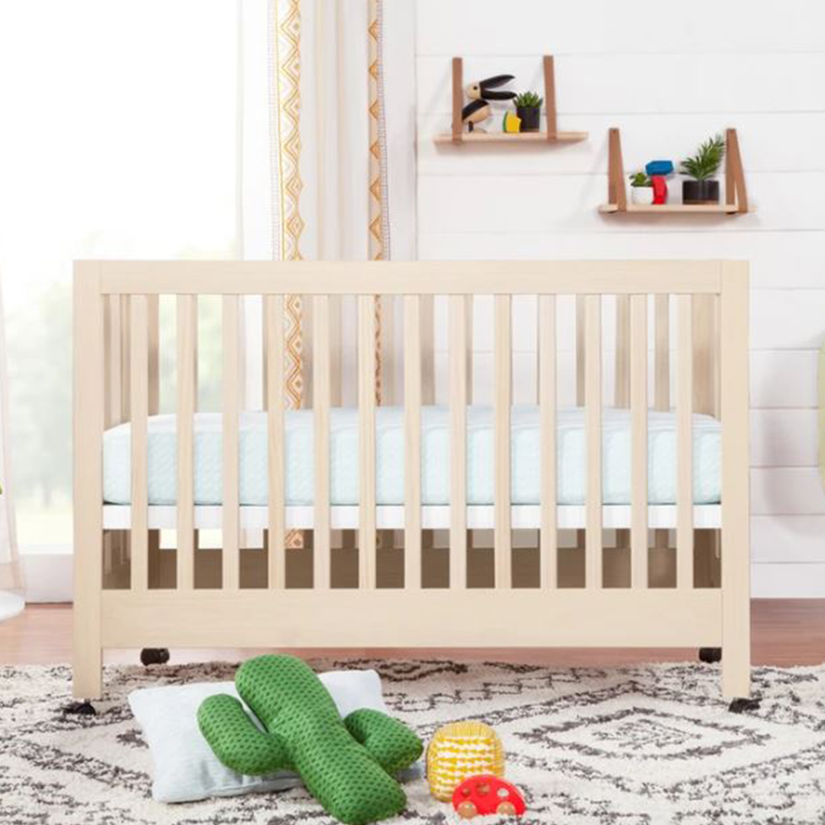 Babyletto Maki Full Size Portable Folding Crib With Toddler Bed Conversion Kit Thetot
