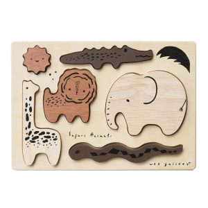 Wee Gallery Wooden Tray Puzzle - Safari Animals
