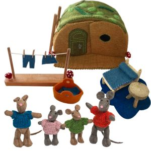 Papoose Deluxe Mouse House Set