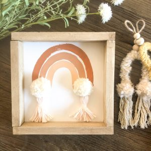 love, Holston Rainbow Pom Pom Terracotta
