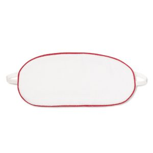 Petite Plume White Mask with Red