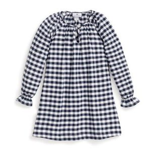 Petite PLume Navy Gingham Nightgown
