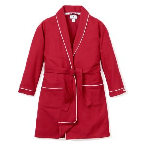 Petite Plume Red Flannel Robe