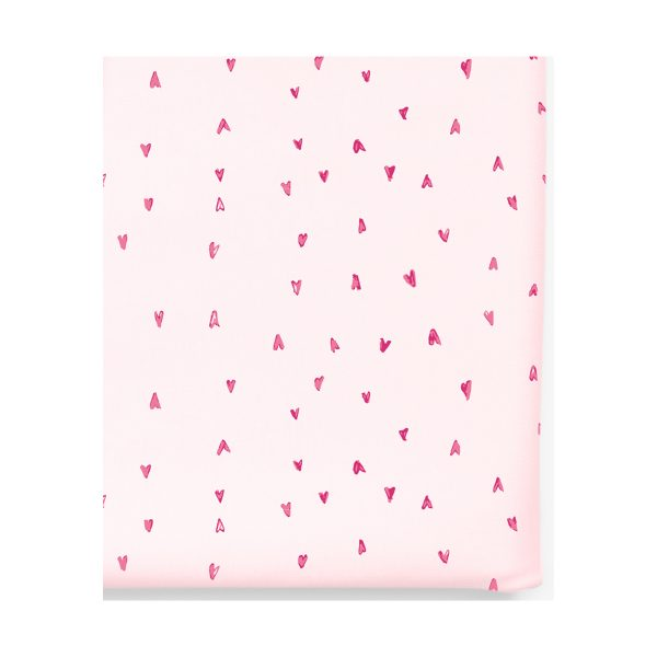 12 12 Crib Sheets in Pink Hearts
