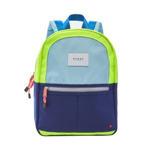 State Bags Mini Kane Backpack Navy Neon