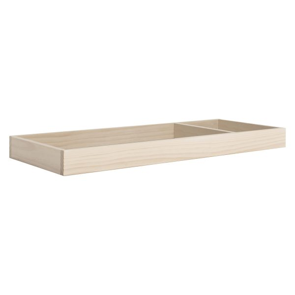 Universal Wide Removable Changing Tray in Washed Natural