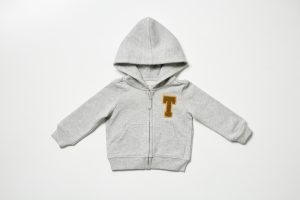 HART + LAND organic cotton personalized zip hoodie