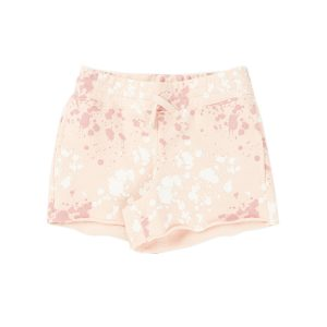 HART + LAND Toddler/Big Kid Organic Girl's Drawstring Shorts- Splatter Cameo Rose