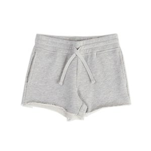 HART + LAND Toddler/Big Kid Organic Solid Girl's Drawstring Short Grey