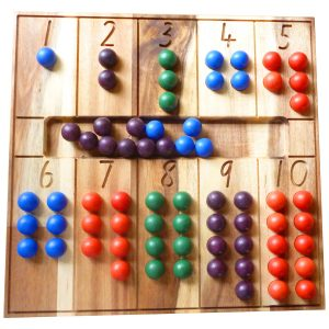 Q Toys Natural Counting Board