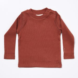 HART + LAND Baby/Toddler/Big Kid Organic cotton Ribbed long sleeve shirt