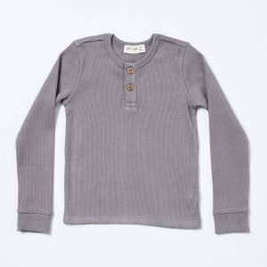 HART + LAND baby/ toddler/ big kid organic cotton ribbed henley shirt