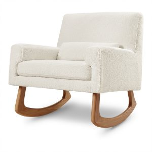 Nursery Works Sleepytime Rocker - White Boucle with Light Legs