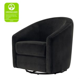 Babyletto Madison Swivel Glider - Black Velvet
