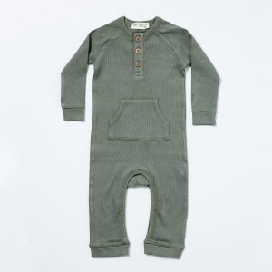 HART + LAND Organic Cotton Rib Baby/Toddler Romper