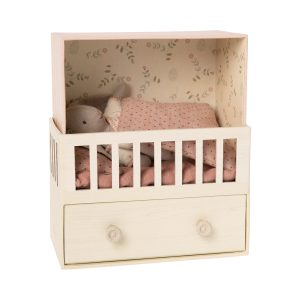 Maileg Baby Room with Micro Rabbit - Pink