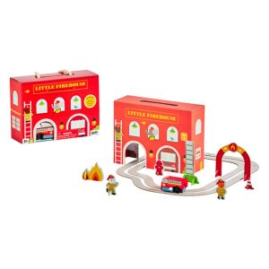 Petit Collage Wind Up and Go Playset - Firehouse