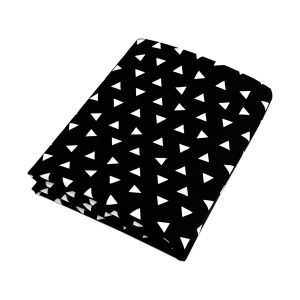 Olli + Lime Black Triangle Crib Sheet