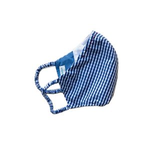 Poeme & Poesie Printed Heirloom Mask - Blue Checks