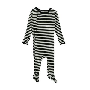 Lovely Little Ribbed Snap Romper Stripe