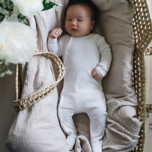 Lovely Littles Cotton Snap Romper White