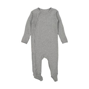 Lovely Littles Cotton Snap Romper Heather Grey