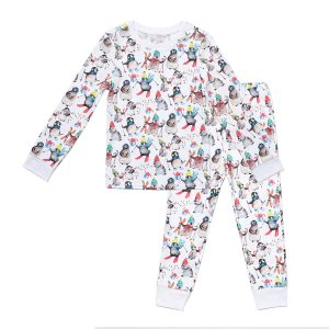 HART + LAND Toddler/Big Kid Pima Cotton PJ Set - Winter Penguins